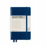Carnet de notes A6 9 x 15 cm Ligné - Bleu marine