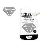 Peinture pailletée Izink Diamond 80 ml - Argent