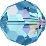 Perle ronde 5000 - 4 mm - Aquamarine Aurore Boreale
