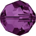 Perle ronde 5000 - 4 mm - Améthyste
