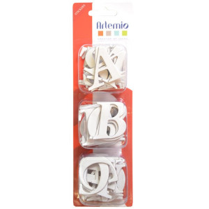 Lettres en carton 4cm 60 pièces