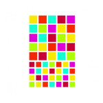 Gommettes Initial carrés x 4 planches