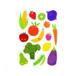 Gommettes Baby fruits et légumes