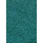 Film vinyle transfert textile thermocollant - Effet pailleté - 34 x 21 cm - Bleu