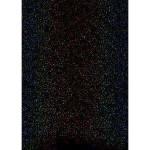 Film vinyle transfert textile thermocollant - Effet Sparkle - 34 x 21 cm - Noir