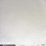 Papier embossé Arabesques Blanc 30,5 x 30,5 cm