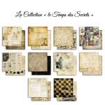 Papier Le temps des secrets 10 feuilles 30,5 x 30,5 cm