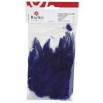 Plume à la mode bleu foncé 10 - 15 cm