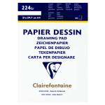 Bloc de papier dessin 224 g/m² grain fin - 21 x 29,7 cm (A4)