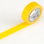 Masking tape uni jaune vif
