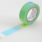Masking tape à motifs vert fluo et argent