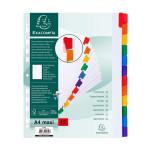 Intercalaires A4+ carte blanche 160 g/m² 12 positions