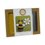 Feutrine mini kit l'abeille et sa fleur