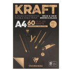 Bloc de papier Kraft Double Face marron et noir 90 g/m² - 14,8 x 21 cm (A5)