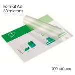 Pochette de plastification A3 80 microns Brillante 100 pcs